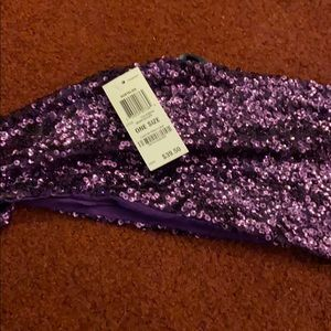 Brand new INC scarf  purple sparkle